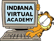 Indiana Virtual Academy Garfield and computer icon