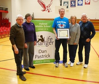 MS Teacher Dan Pastrick receives Life Changer Award 2016