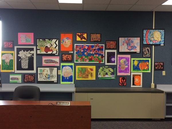 Display of K-12 artwork