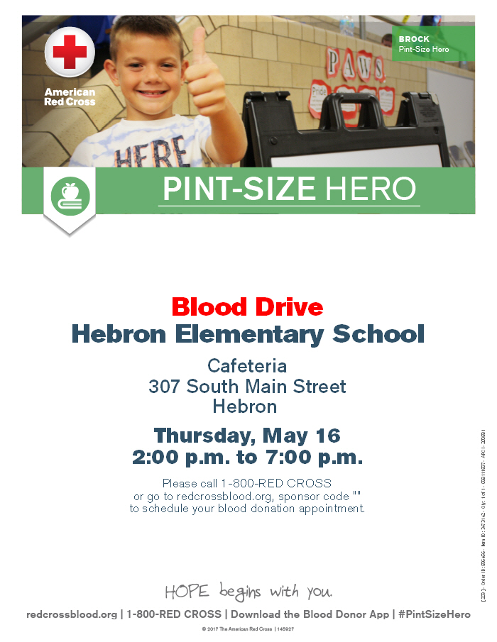 Blood Drive at Hebron Elementary School