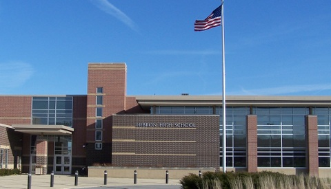Exterior photo of Hebron High School