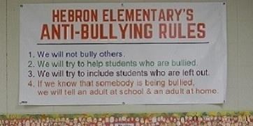 Hebron Elementary Anti-Bullying Rules