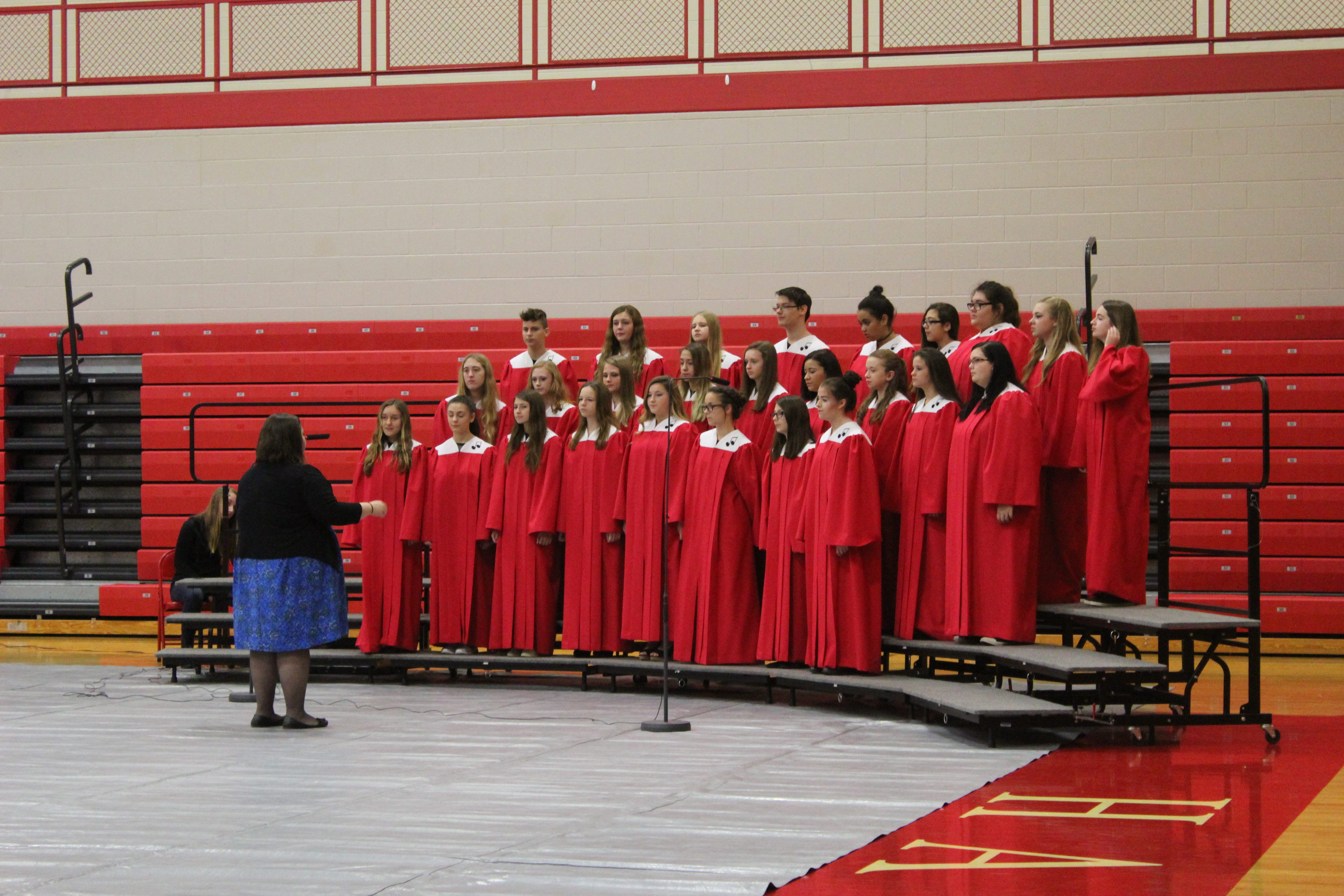 High School Choir at Veterans Day Program