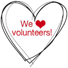 We love volunteers heart clipart
