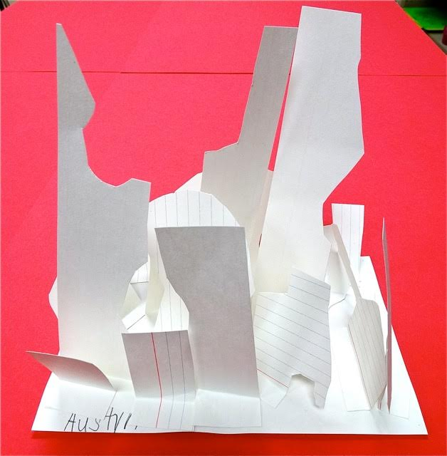Notecard sculpture