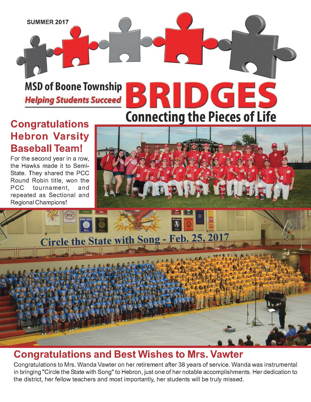 Picture of the front page of Bridges Summer 2017