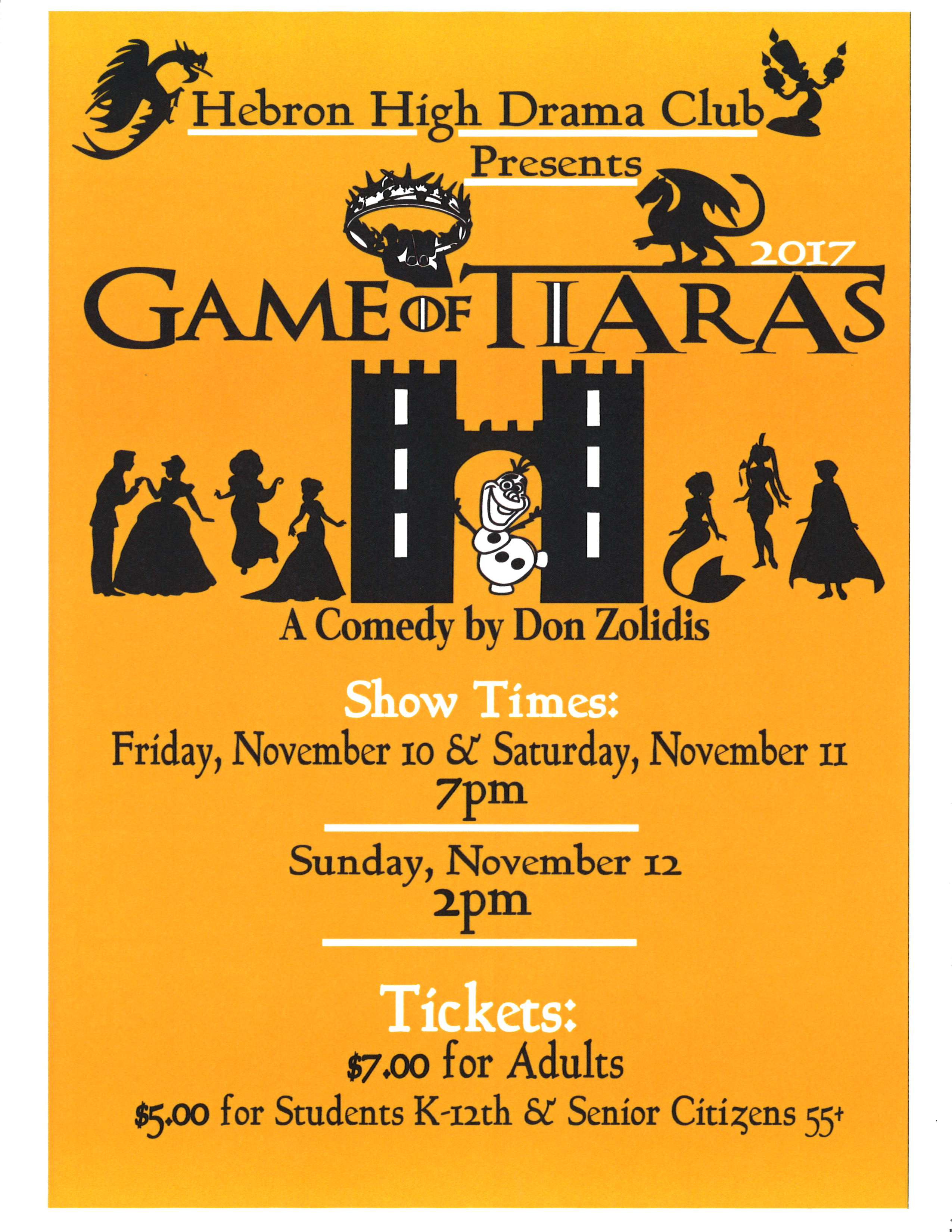 Game of Tiaras Flyer